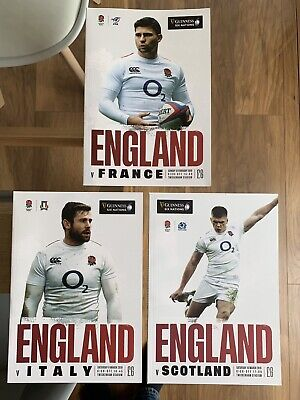 NEW GUINESS SIX NATIONS 2019 ENGLAND v FRANCE, SCOTLAND & ITALY Rugby Programmes