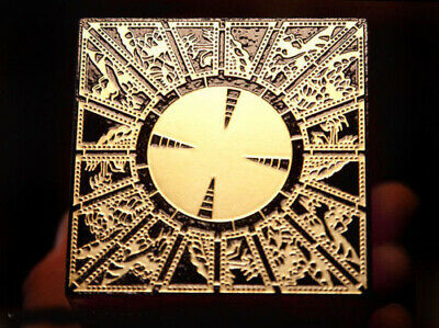 Lament Configuration Hellraiser Puzzle Box - Etched Brass and Solid Mahogany