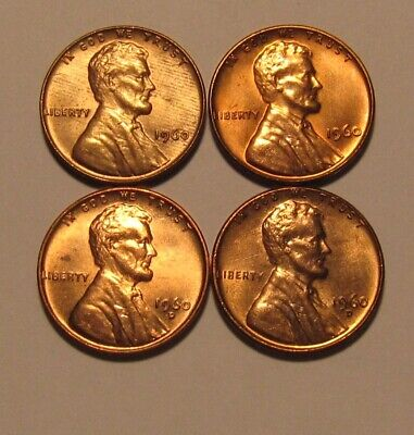 1960 PD Small / Large Date Lincoln Cent Penny - Mixed BU Condition - 159SA