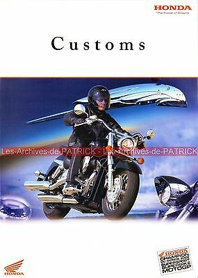 HONDA Customs VT 125 Shadow 750 DC Blackwidow VTX 1300 1800 Brochure Moto 2003