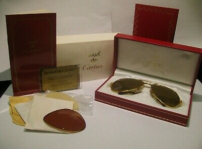 b32d437319b RARE Vintage Cartier Gold Vendome Luis Sunglasses LC 59 - 14 Authentic!  Aviators