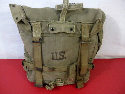 WWII Era US Army OD Green M1944 Upper Combat Field Pack - NICE Condition #1
