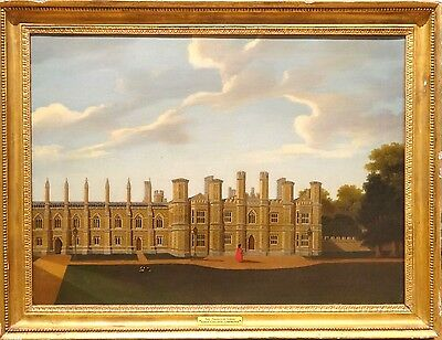 19th Century Cambridge King College Provost's Lodge University Antique Painting