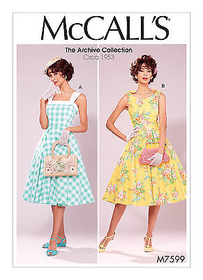 VINTAGE RETRO 50S McCalls Sewing Pattern 7599 Misses ...