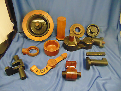 Architecture salvage wood 14 pc Simplex Wire & Cable Co. numbered bobbin items