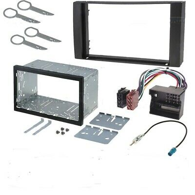 Ford Transit 2006> Double Din Fascia Panel Adapter Plate Cage Fitting Kit ISO