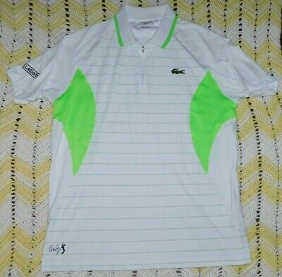 ce1a86dd6 Lacoste Andy Roddick 1 4 zip athletic tennis Polo shirt Men s size 6
