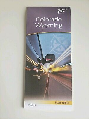 Colorado & Wyoming State Map 2018-2019 AAA Roadmap Free Shipping
