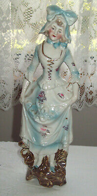 Vintage 23.5cm Bisque China Lady Figurine Stamped Germany 6081