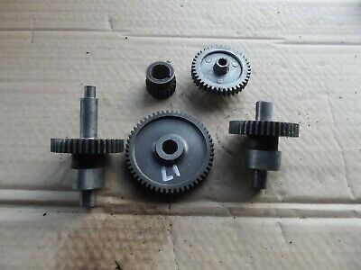 Triumph T70 T90 Camshaft Inlet Exhaust And Timing Gears.  17