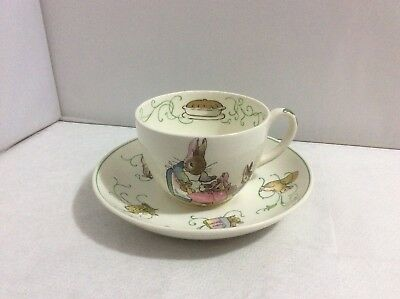 Vintage Early 1950s Wedgwood Peter Rabbit Rare Cup & Saucer Beatrix Potter Rare