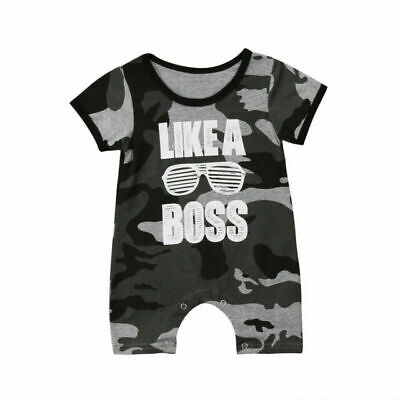 Baby Boys Girl Short Sleeve Romper Bodysuit Jumpsuit Kids Clothes Outfit!