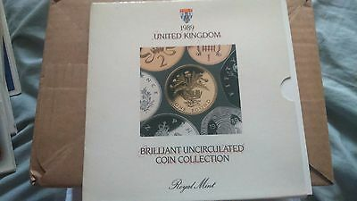 1989 Uk Brilliant Uncirculated Coin Collection