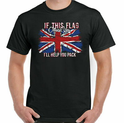 Flag Offends Mens Union Jack T-Shirt St Georges Day Great Britain England GB Top