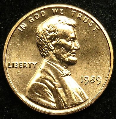 1989 Uncirculated Lincoln Memorial Cent Penny BU (B05)