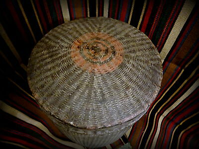Antique 19th Century Burmese Woven Rice Carrying Basket