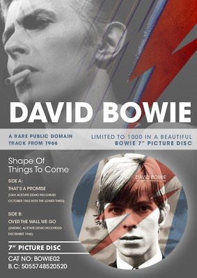 """DAVID BOWIE The Shape Of Things To Come Picture Disc 7"""" vinyl single ltd"""