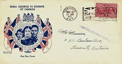 Canada : Coronation Of King George Vi, First Day Cover, No Content Cachet (1937)