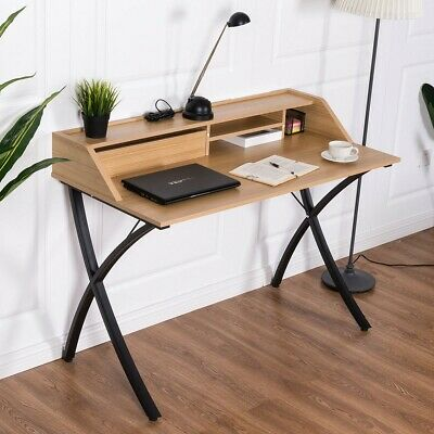 Small Computer Desk with Drawer Industrial Style Workstation Retro Writing Table