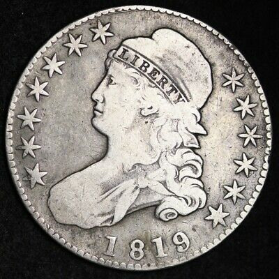 1819/8 Capped Bust Half Dollar CHOICE FREE SHIPPING E343 WLT