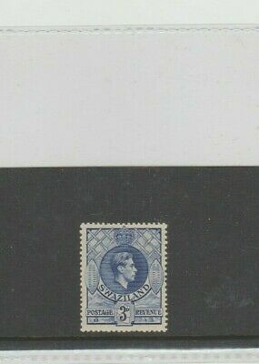 SWAZILAND STAMPS. SG32a, DEEP BLUE, CAT £17.00.