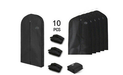 10Pack Garment Suit Travel Bag Storage Dress Coat Travel Clothes Cover Protector