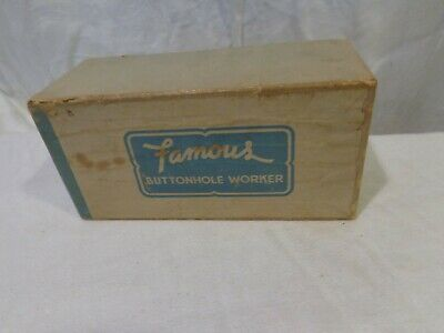 Vintage Famous Buttonhole Worker w/Instructions & Box White/Sears Sewing Machine