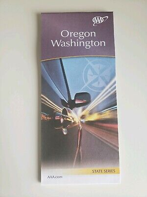Oregon & Washington State Map 2018-2019 AAA ROADMAP Free Shipping