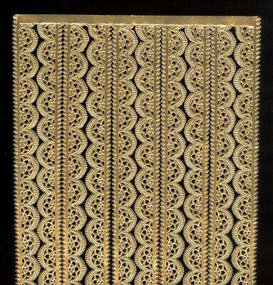 Ant Gold German Dresden Die Cut Paper Scalloped Border Victorian Crafts