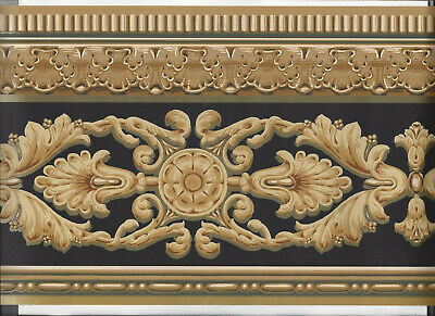 Wallpaper Border Victorian Scroll Architectural Moulding Vintage Antique New