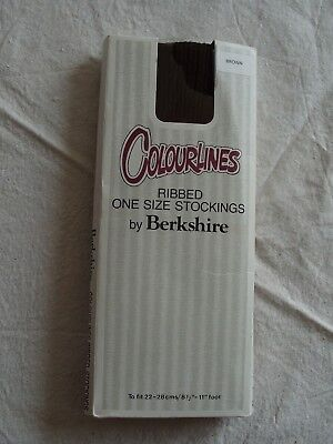 Colourlines By Berkshire Ribbed One Size Stockings