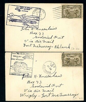 Canada  1929  Flight Covers.   2 Items      (A827)