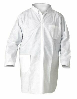 BRAND NEW Kimberly-Clark KleenGuard Fabric Protection Lab Coat Medium 25 count