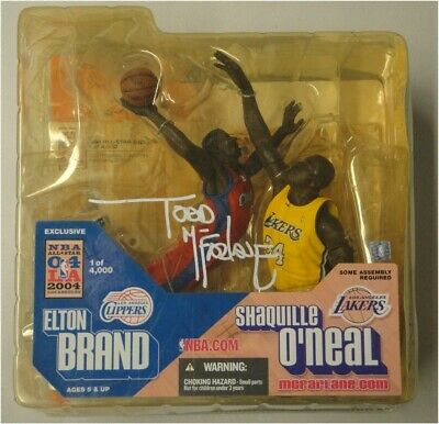 Todd McFarlane Hand Signed Shaquille O'Neal & Elton Brand Figurine New In Box