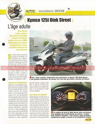 KYMCO 125i Dink Street Scooter 2009 Joe Bar Team Fiche Moto #004746