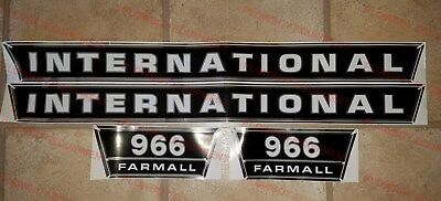 New Hood & Side Panel Decal Set for IH 966 Tractor International Farmall Decals
