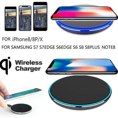 Fast Qi Wireless Charger Dock For iPhone X 8 7 plus XR XS Samsung S9 S10 Note8 9