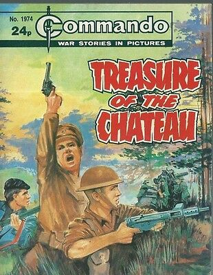 Treasure Of The Chateau,commando War Stories In Pictures,no.1974,war Comic,1986