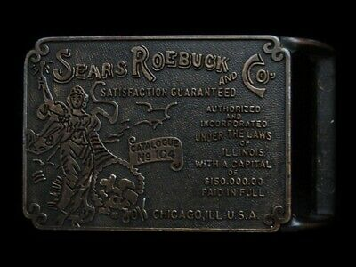 MH21132 *NOS* VINTAGE 1970s **SEARS ROEBUCK AND CO.** BELT BUCKLE