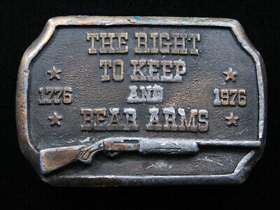 Rg01117 Vintage 1976 *The Right To Keep And Bear Arms* 2Nd Amendment Belt Buckle