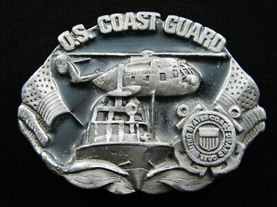 Rf15117 Vintage 1982 **U.s. Coast Guard** Military Commemorative Belt Buckle
