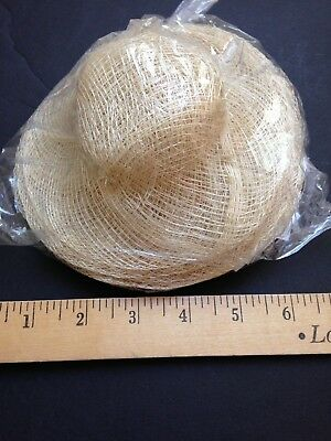 """WHOLESALE LOT 24 -  6"""" Dia, NEW SINAMAY NATURAL Doll or Bear HATS to Decorate FS"""