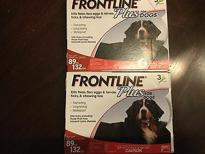 Frontline Plus Flea And Tick Control For Dog 89-132 Lbs 6 Month Supply- Usa