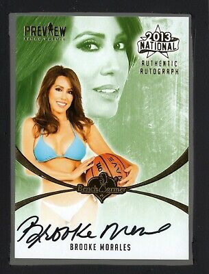 2013 Bench Warmer National Autograph Brooke Morales HT 19223