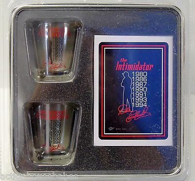 Nascar Dale Earnhardt Shot Glass And Playing Card Gift Set In Collectible Tin