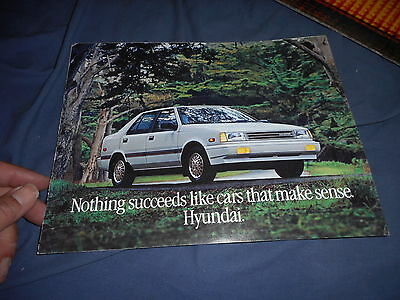 1988 Hyundiia Excel USA Market Color Brochure Catalog Prospekt