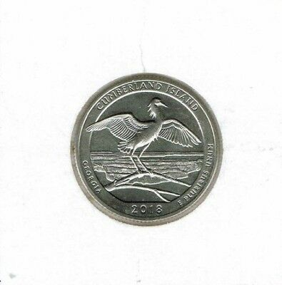 2018-D Brilliant Uncirculated  Cumberland Island National Seashore 25 Cent Coin!