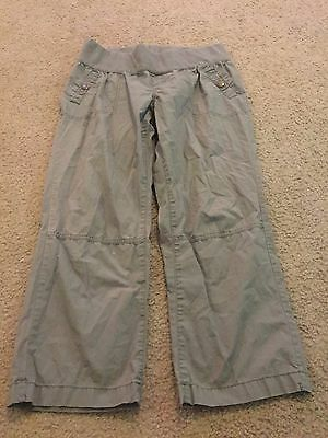 43ab35b755f81 Nice women's size 4 Liz Lange Maternity for Target army green Capris Pants