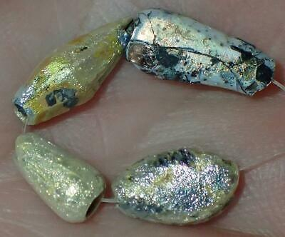 4 Ancient Rare Roman Glass beads, 9-13mm, 1800+Years Old, #S414