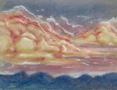 Sunset Clouds Original painting landscape art artwork originals listed by artist